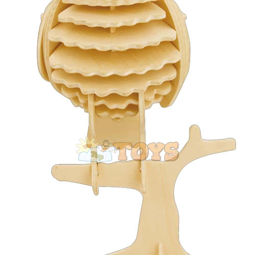 rowood Puzzle 3D din lemn Animale sălbatice Bufniță JP273 35 piese