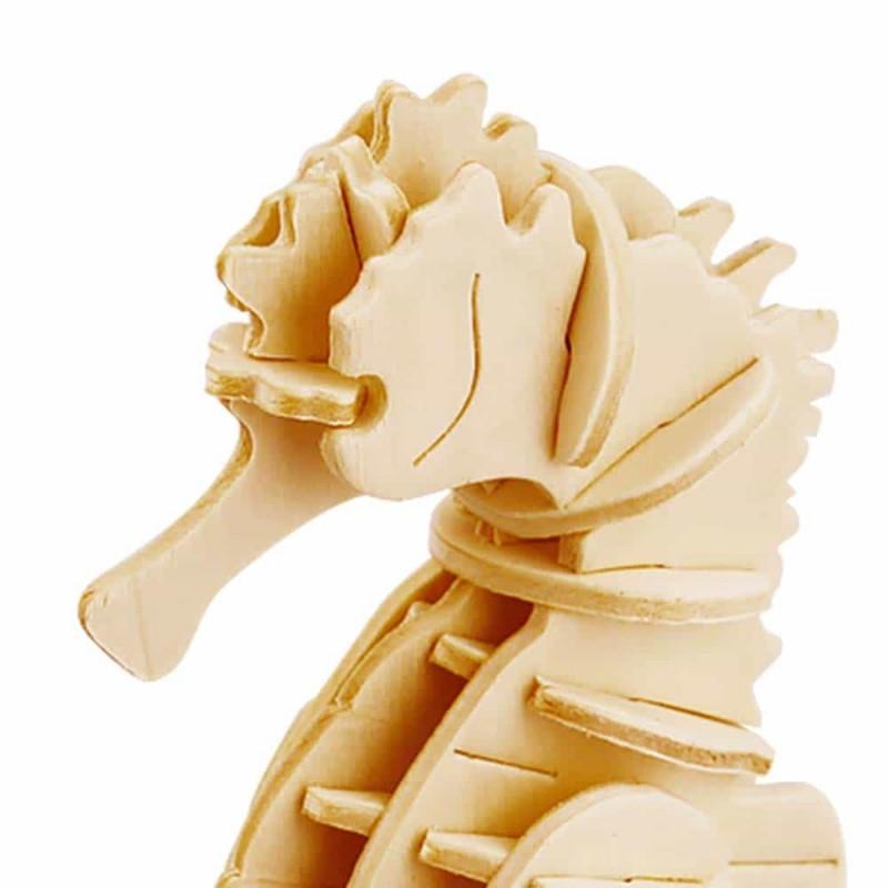 rowood Puzzle 3D din lemn Animale din Ocean Căluț de mare JP277
