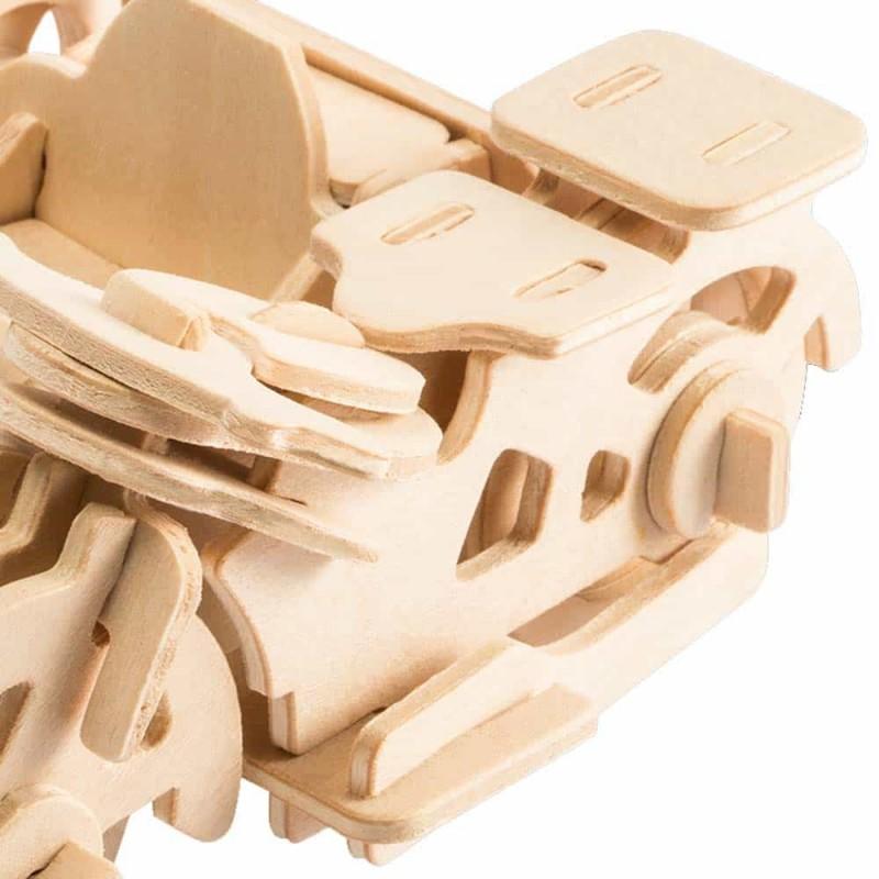 rowood Puzzle 3D din lemn Motocicletă cu ataș JP240 - 42 piese
