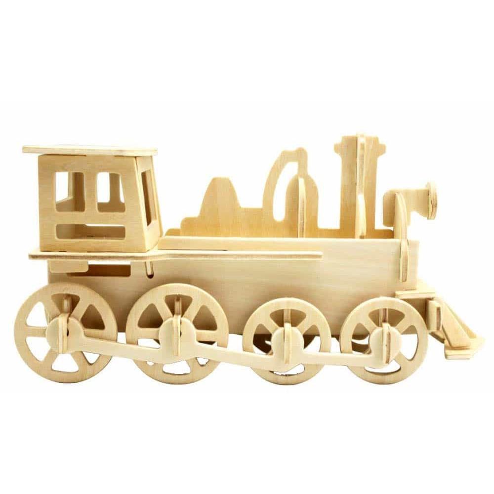 rowood Puzzle 3D din lemn Locomotivă cu aburi JP302 - 35 piese Train