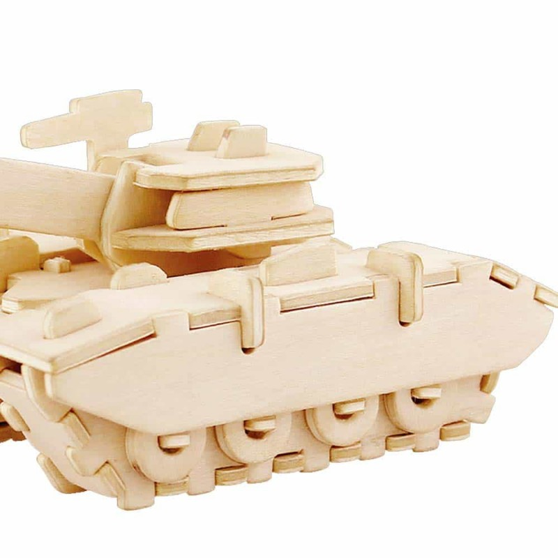 rowood Puzzle 3D din lemn Tanc de luptă JP234 - 47 piese Military Tank