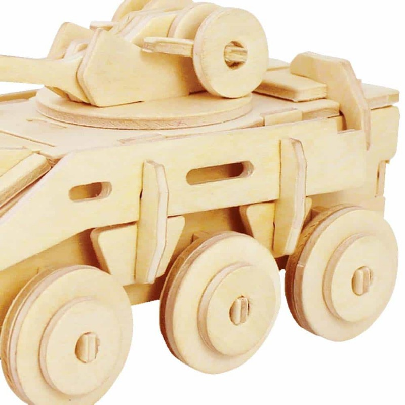 rowood Puzzle 3D din lemn Tanc de luptă JP236 59 piese Armored Vehicle
