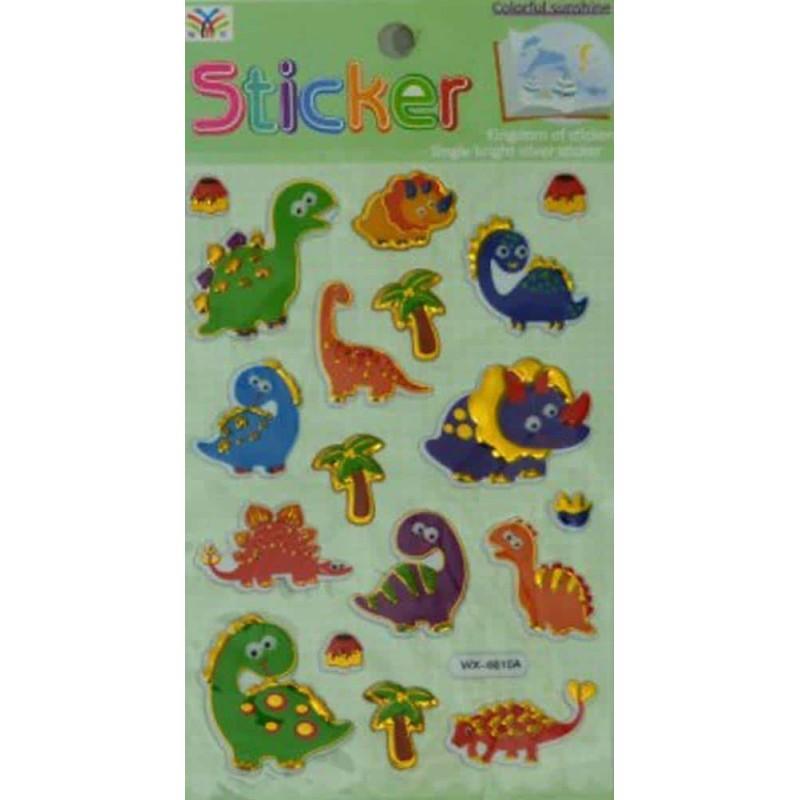 Sticker decorativ diverse modele tip 3D din PVC 19x10cm pentru copii