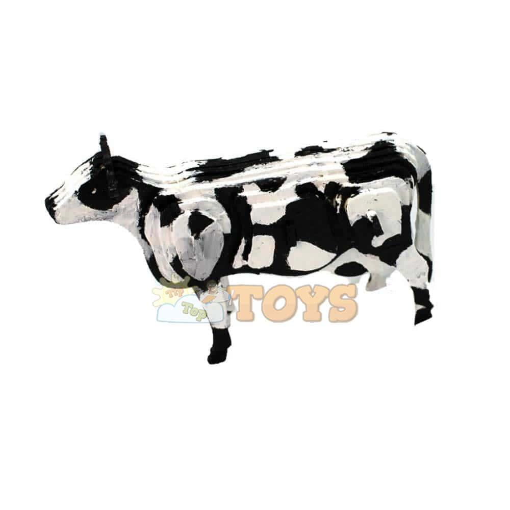 rowood Puzzle 3D din lemn Animale domestice Vacă 23 piese JP251