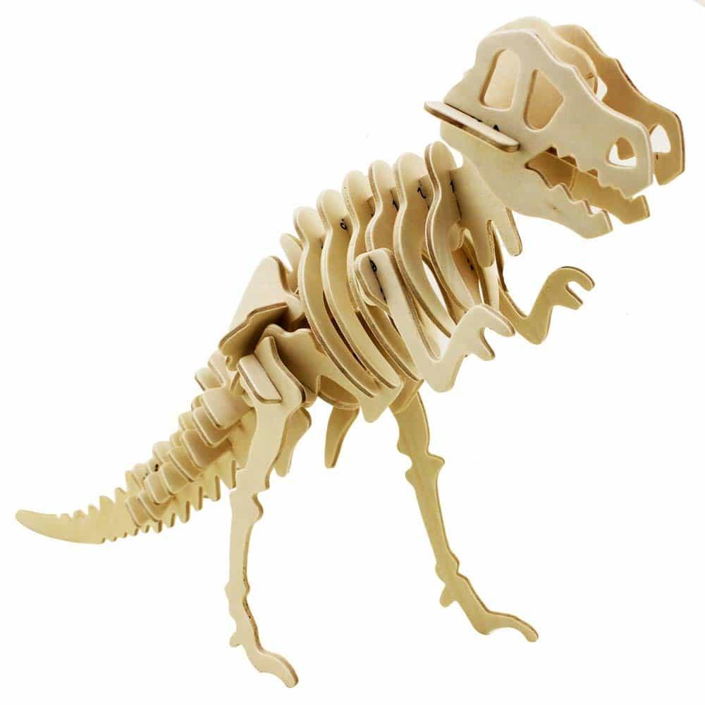 Robotime Puzzle 3D din lemn Dinozaur T-Rex 29 piese JP203 33cm