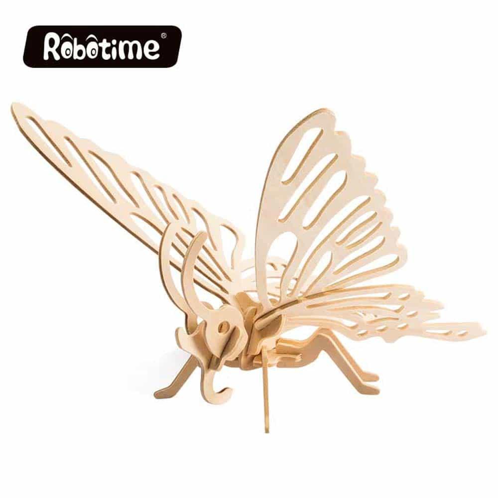 rowood Puzzle 3D din lemn Insecte Fluture 16 piese JP204 Butterfly