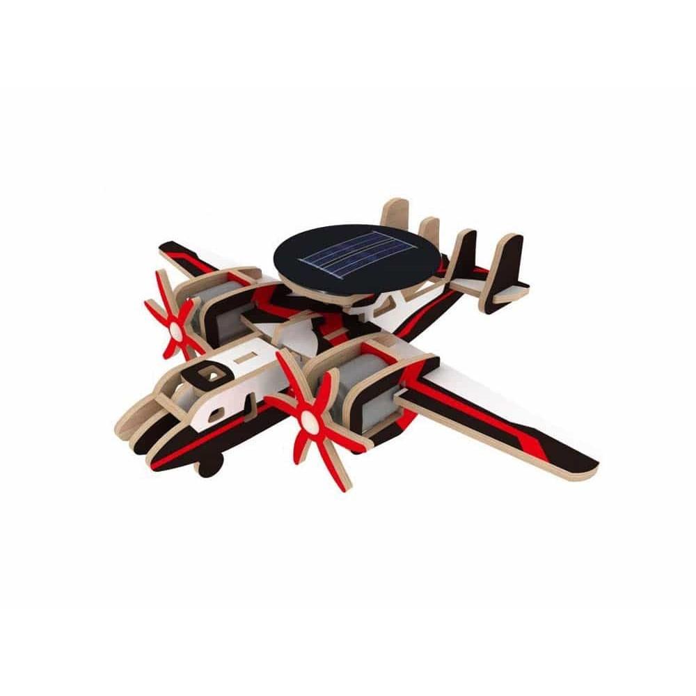 Robotime Puzzle 3D din lemn Avion cu sistem solar P340S Aircraft Plane