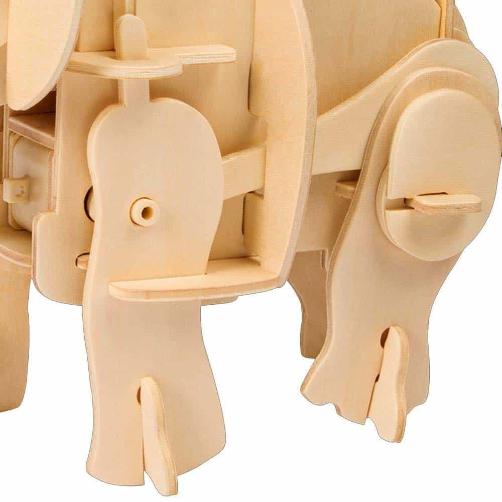 Robotime Puzzle 3D din lemn Mamutul care merge A400S 40 piese