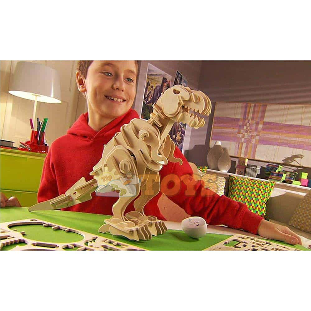 Robotime Puzzle 3D din lemn T-REX interactiv D210 85 piese