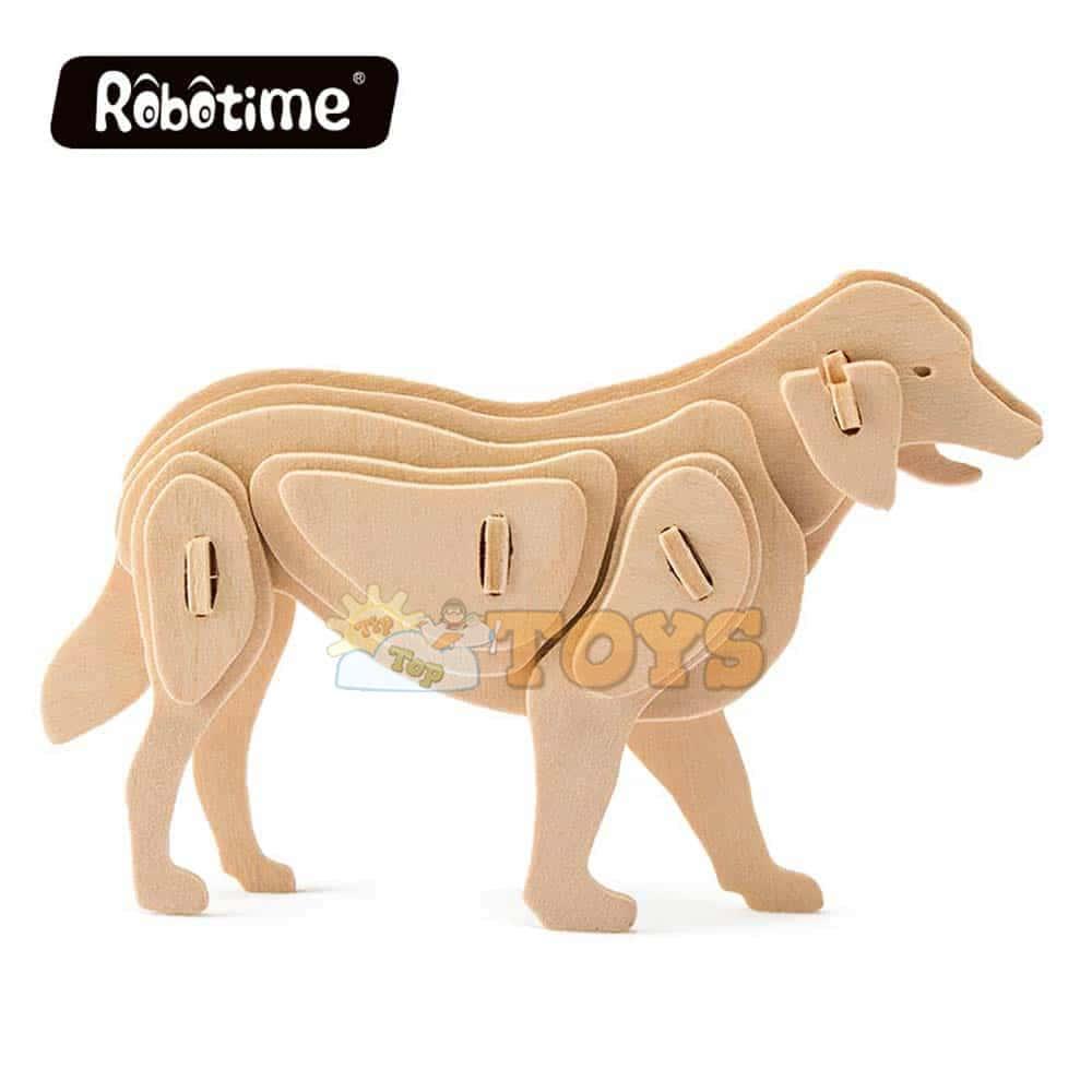 rowood Puzzle 3D din lemn Animale de companie Câine 24 piese JP111