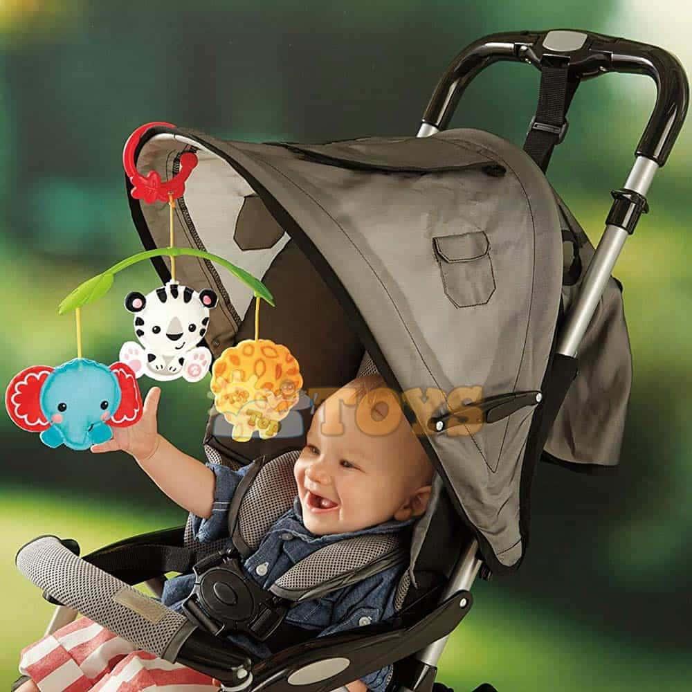 Fisher-Price Carusel muzical Rainforest 3 în 1 CHR11 jucărie cărucior