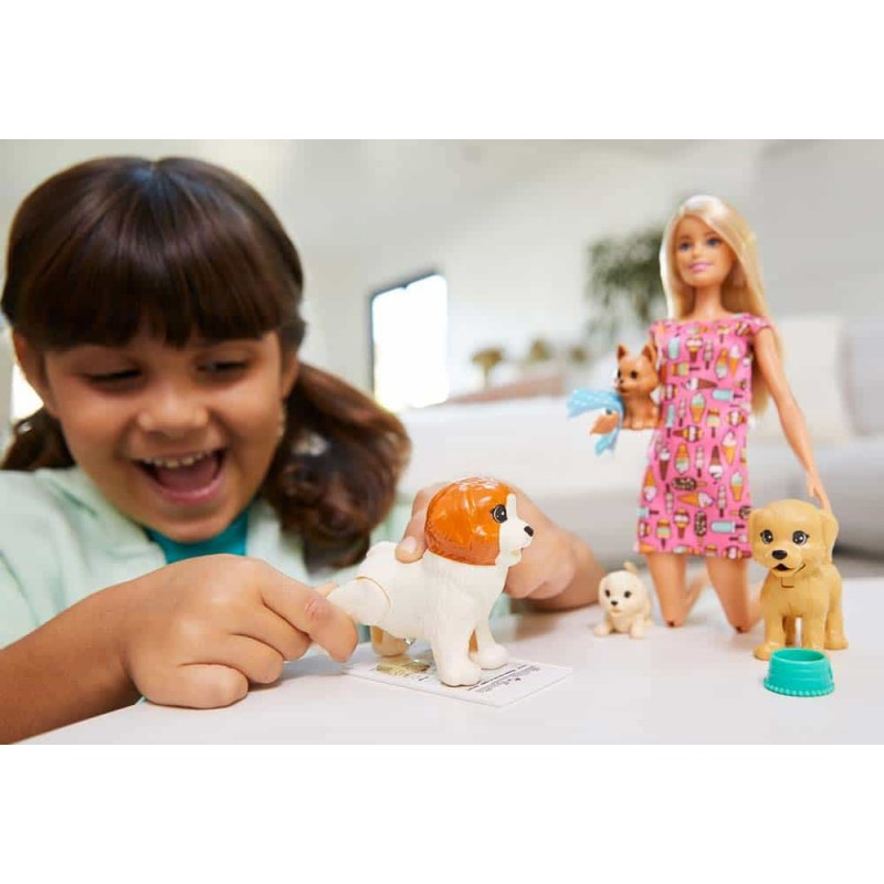 Păpușă Barbie Grădinița cățeilor FXH08 Doggy Day Care Mattel
