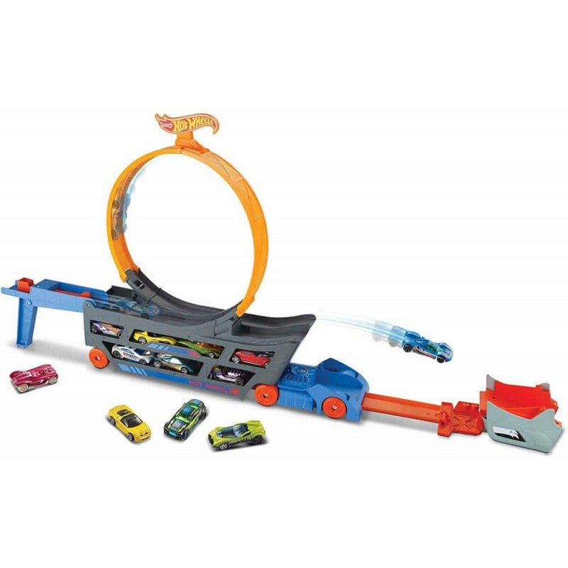 Hot Wheels Set de pistă Stunt and Go set GCK38 Camion cu 1 mașinuță