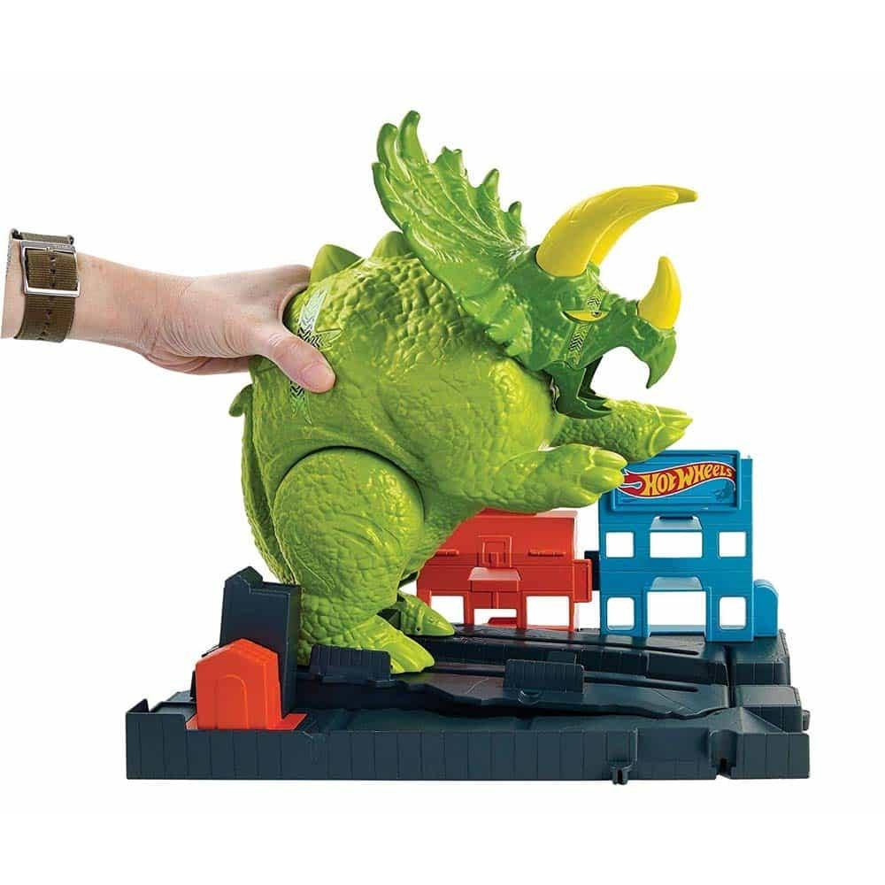 Hot Wheels Set pistă Triceratops GBF97 Smashin Triceratops Mattel