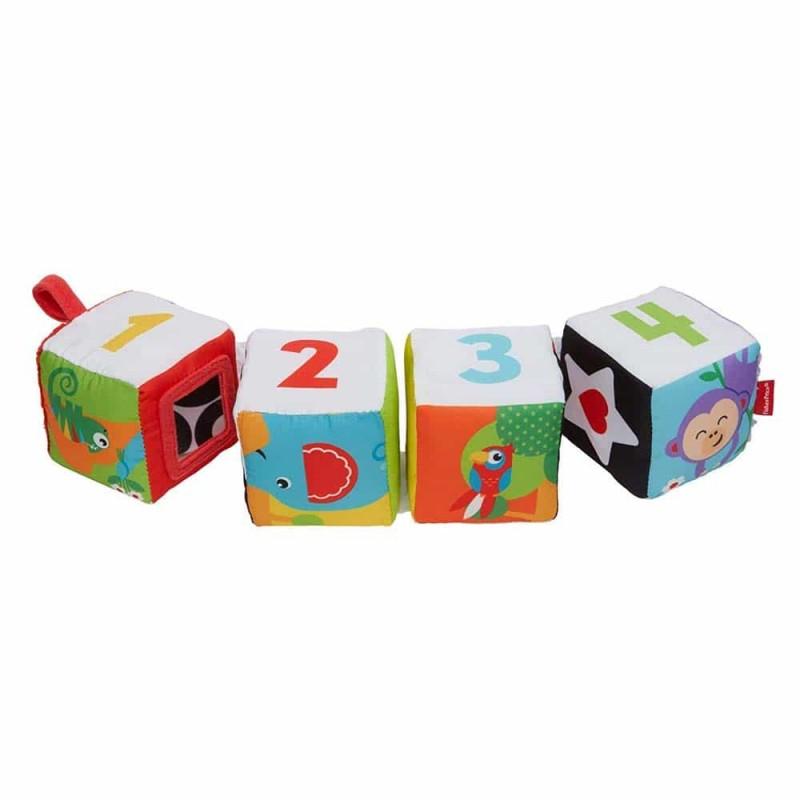 Fisher-Price Cub moale pentru bebeluși GFC37 Fun to Flip Soft Blocks