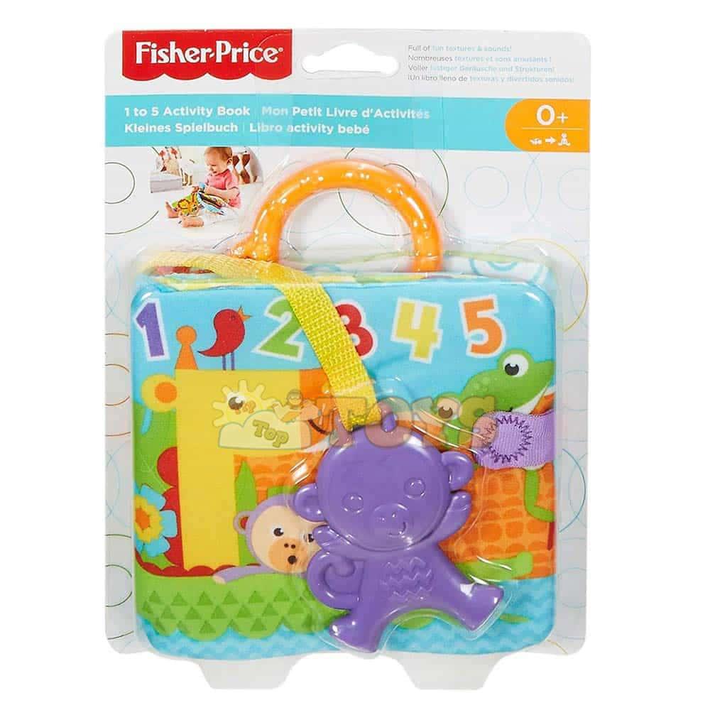Fisher-Price Carte moale cu activități FGJ40 Să numărăm de la 1 până la 5