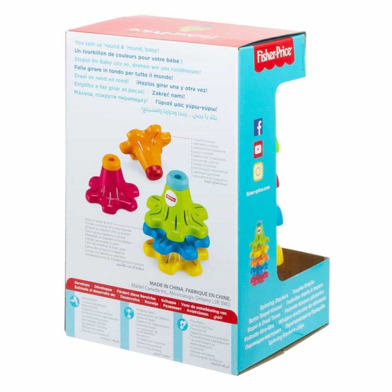 Fisher-Price Conuri colorate de stivuit și rotit FYL38 - Spinning Stackers