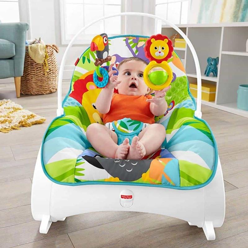 Fisher-Price Balansoar Infant to Toddler Rocker FMN39 cu jucării și vibrații