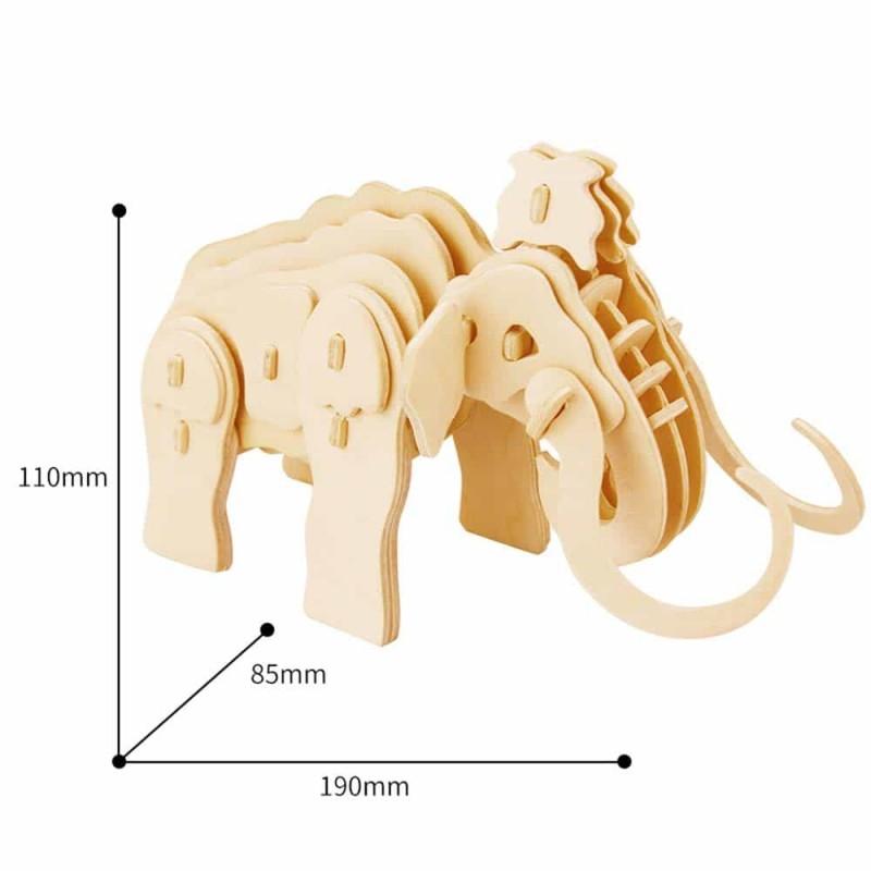 Puzzle 3D din lemn Mamut JP275 38 piese Mammoth Robotime