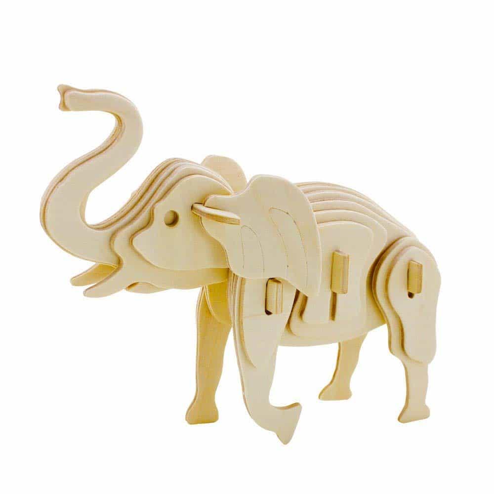 rowood Puzzle 3D din lemn Animale sălbatice Elefant 27 piese JP215