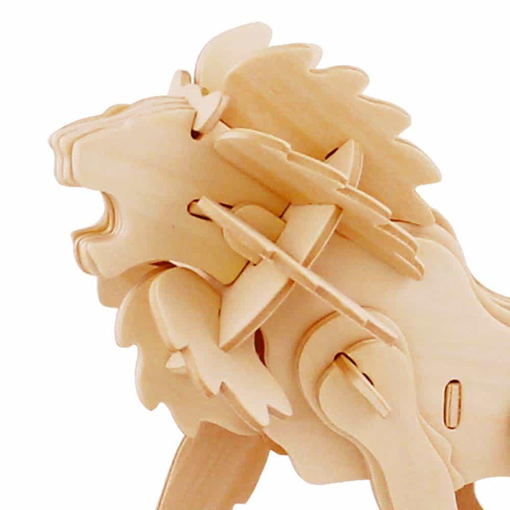 rowood Puzzle 3D din lemn Animale sălbatice Leu 34 piese JP225 - Lion