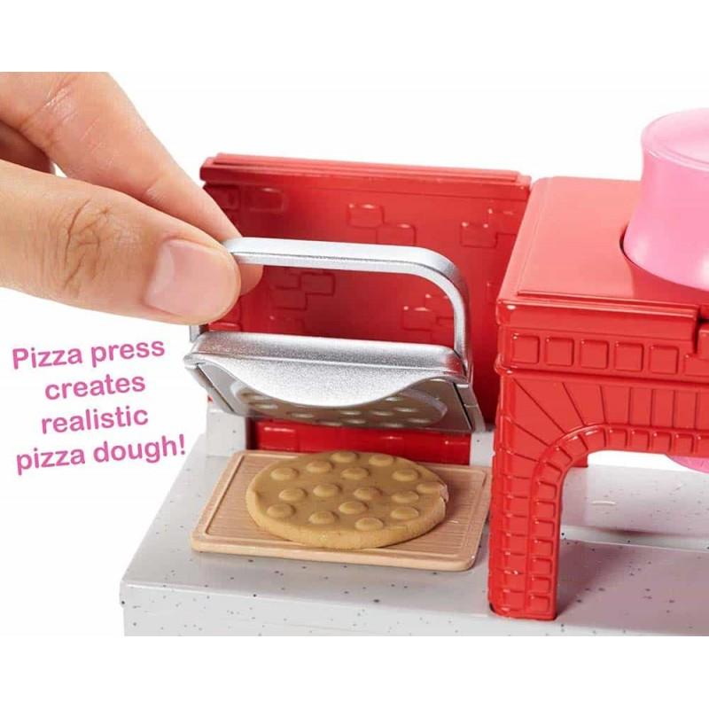 Set păpușă Barbie cu atelier de pizza complet echipat FHR09 Pizza Chef