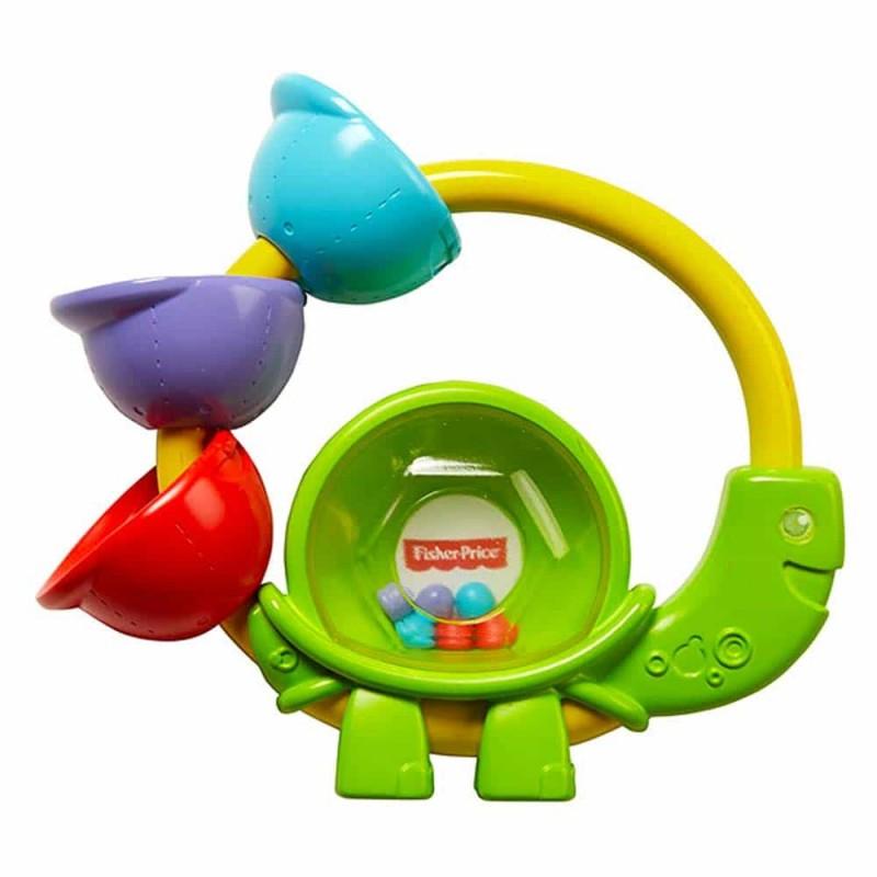 Fisher-Price Zornăitoare colorată Broască țestoasă FGJ57 Turtle rattle
