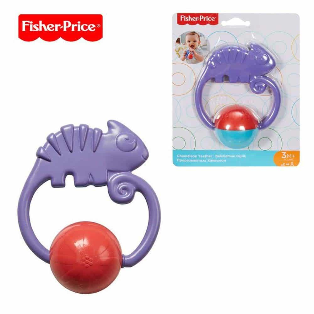 Fisher-Price Zornăitoare colorată Cameleon FGJ55 Chameleon teether