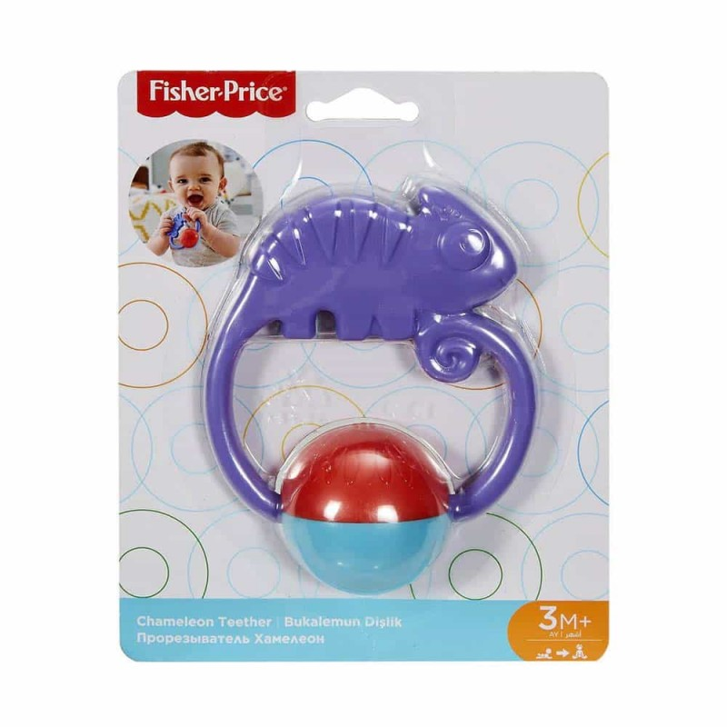 Fisher-Price Zornăitoare colorată Cameleon FGJ55 Chameleon teether