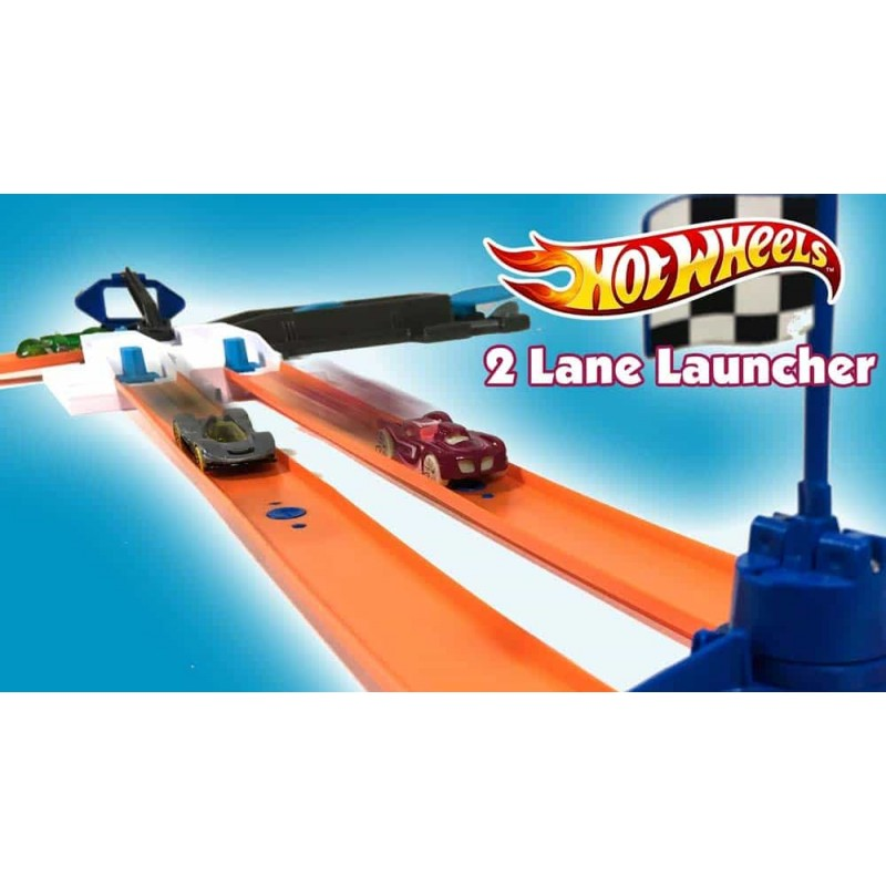 Hot Wheels Track Builder Pachet cu sistem de pornire DJD68 - Mattel