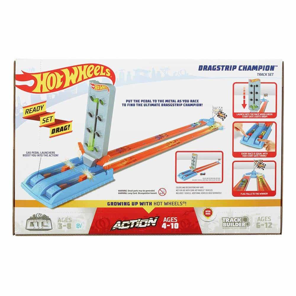 Hot Wheels Action Pistă de curse Dragstrip Champion GBF82 - Mattel