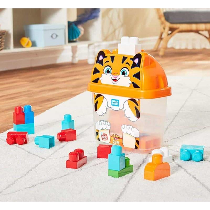 Mega Bloks Set cuburi de construcții Tigru zâmbăreț GCT48 în cutie
