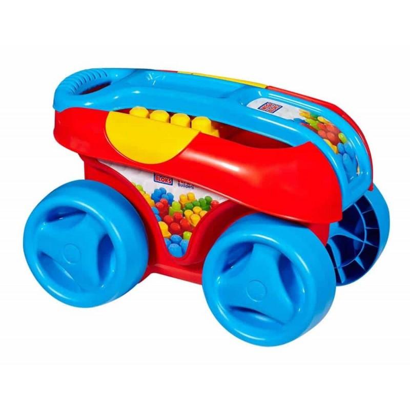 Mega Bloks Cărucior sortator de forme pentru băieți 25 piese FVJ47 blue