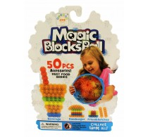Set creație cu arici Magic Blocks Balls Fast Food series 50 buc accesorii