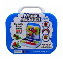 Set creație cu arici Magic Blocks Balls 150 piese set creativ portabil