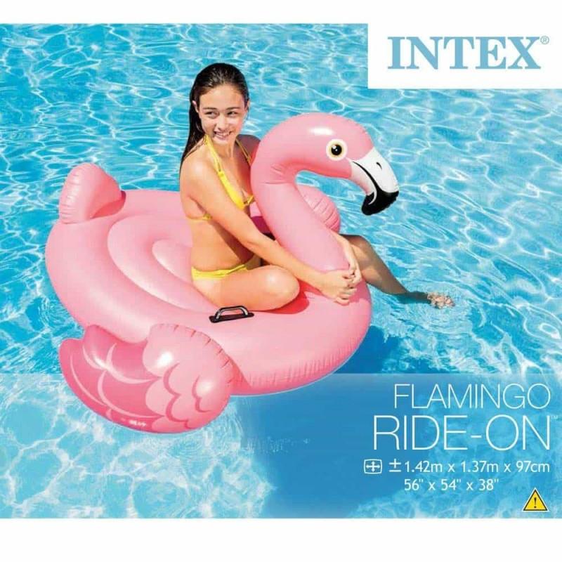 INTEX Saltea gonflabilă Flamingo 142cm cu mânere 57558 Ride-on