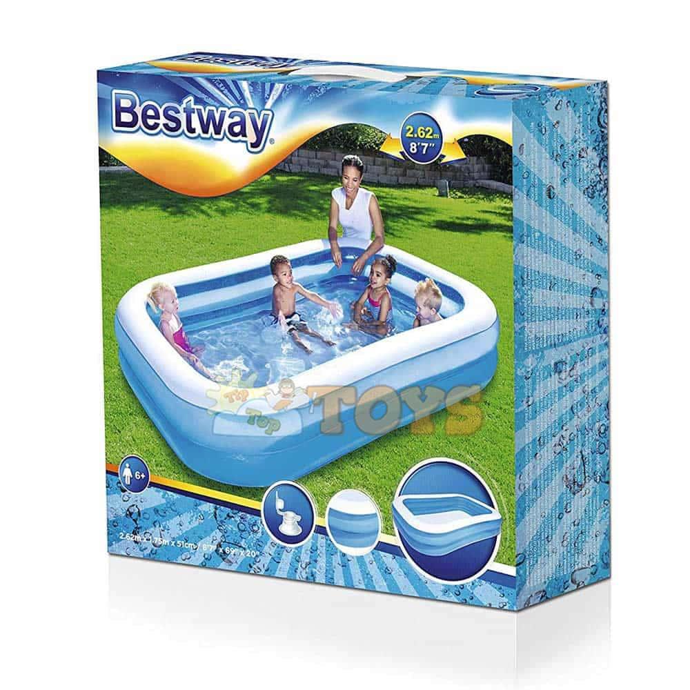 Bestway Piscină gonflabilă formă dreptunghiulară 54006 262x175cm
