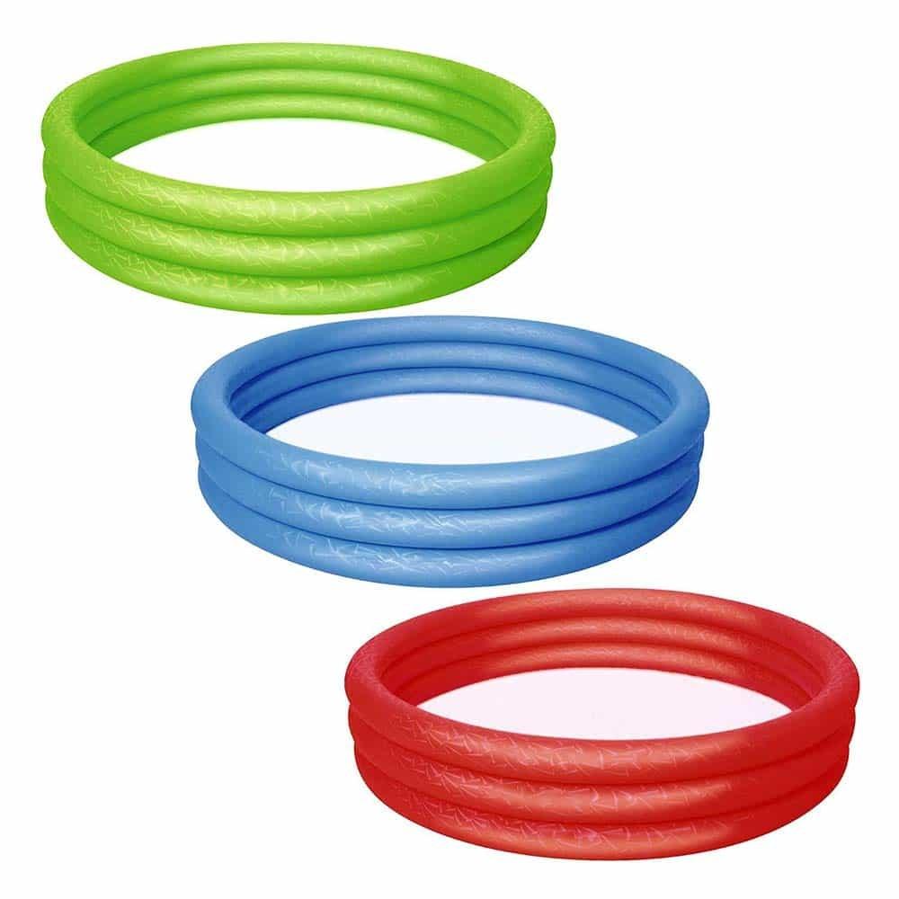 Bestway Bazin rotund gonflabil 3 inele 183x33 51027 diverse culori
