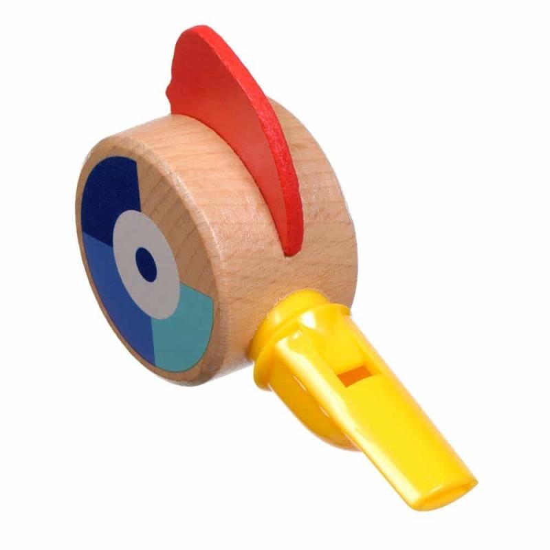 Jucărie din lemn Fluier formă pasăre pentru copii Lucy&Leo LL161 Blue