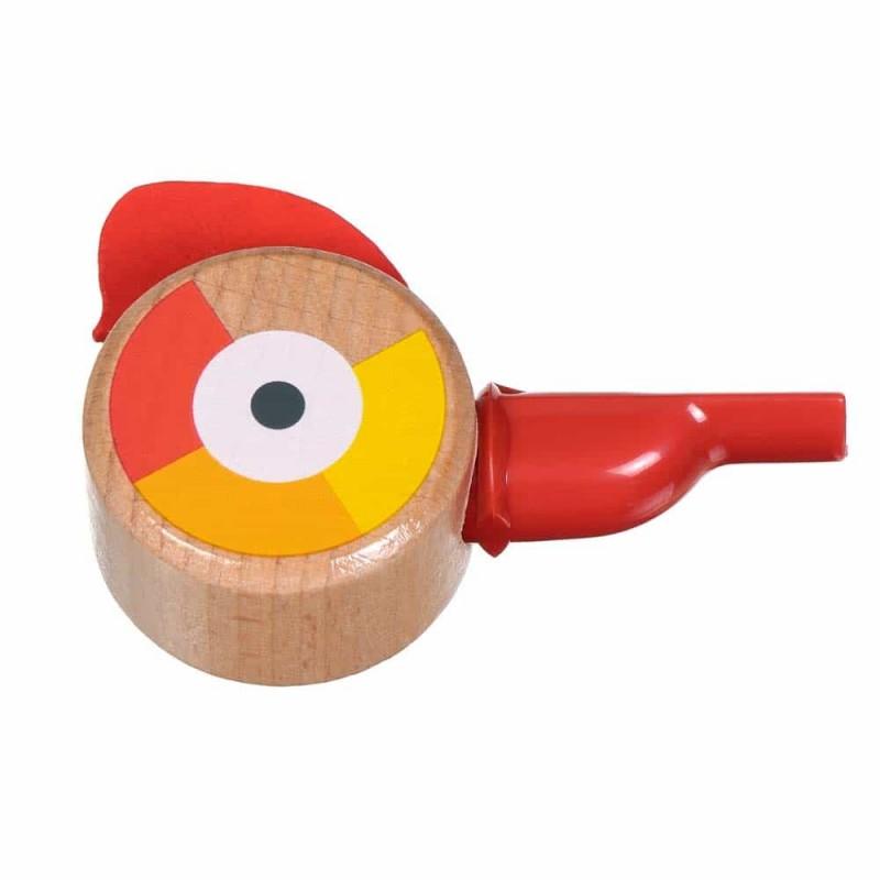 Jucărie din lemn Fluier formă pasăre pentru copii Lucy&Leo LL161 Roșu