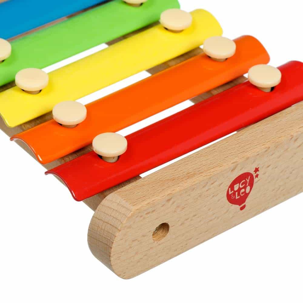 Jucărie din lemn Xilofon pentru copii Lucy&Leo LL149 - xilofon din lemn