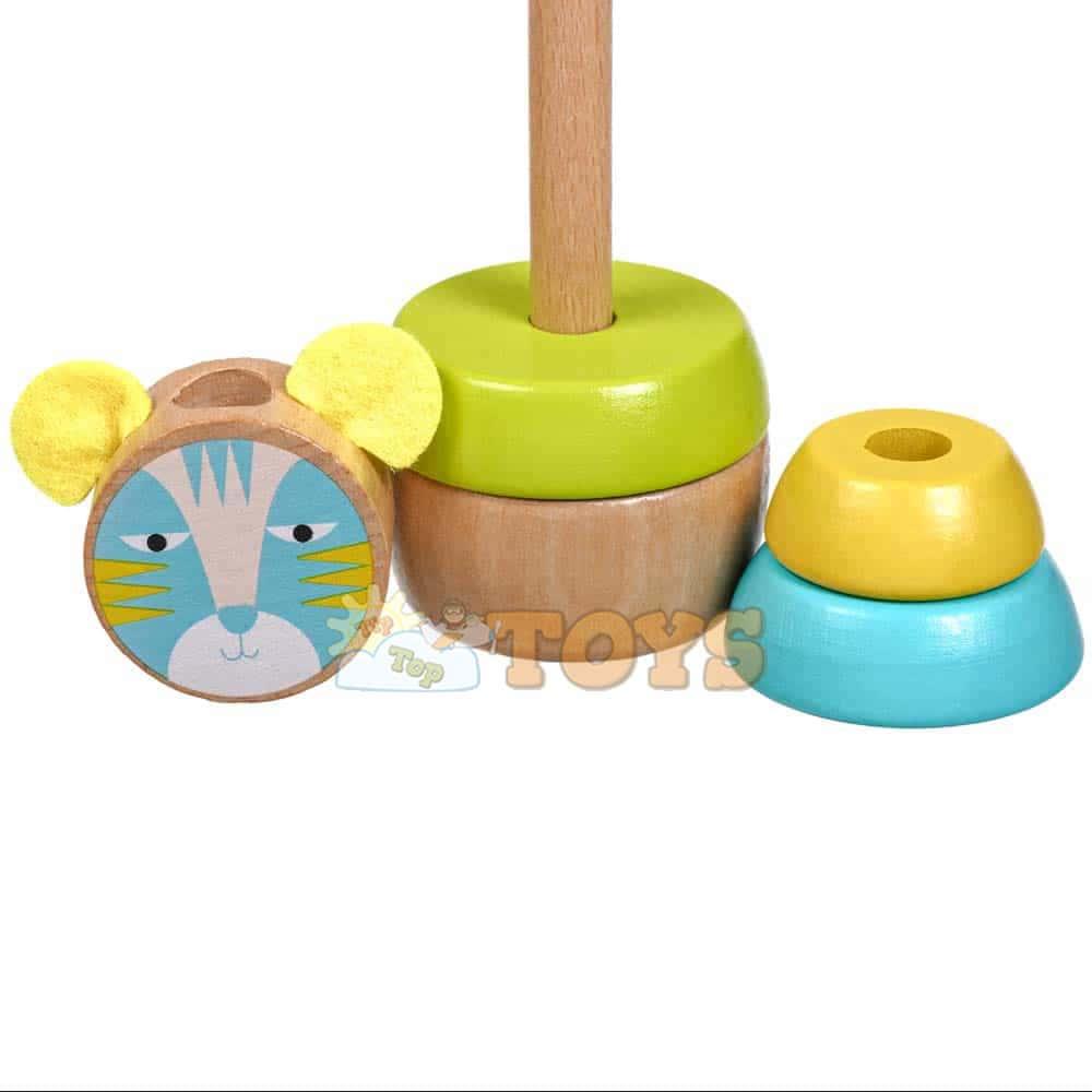 Jucărie de sortare și stivuire din lemn Pisoi Lucy&Leo LL153 multicolor