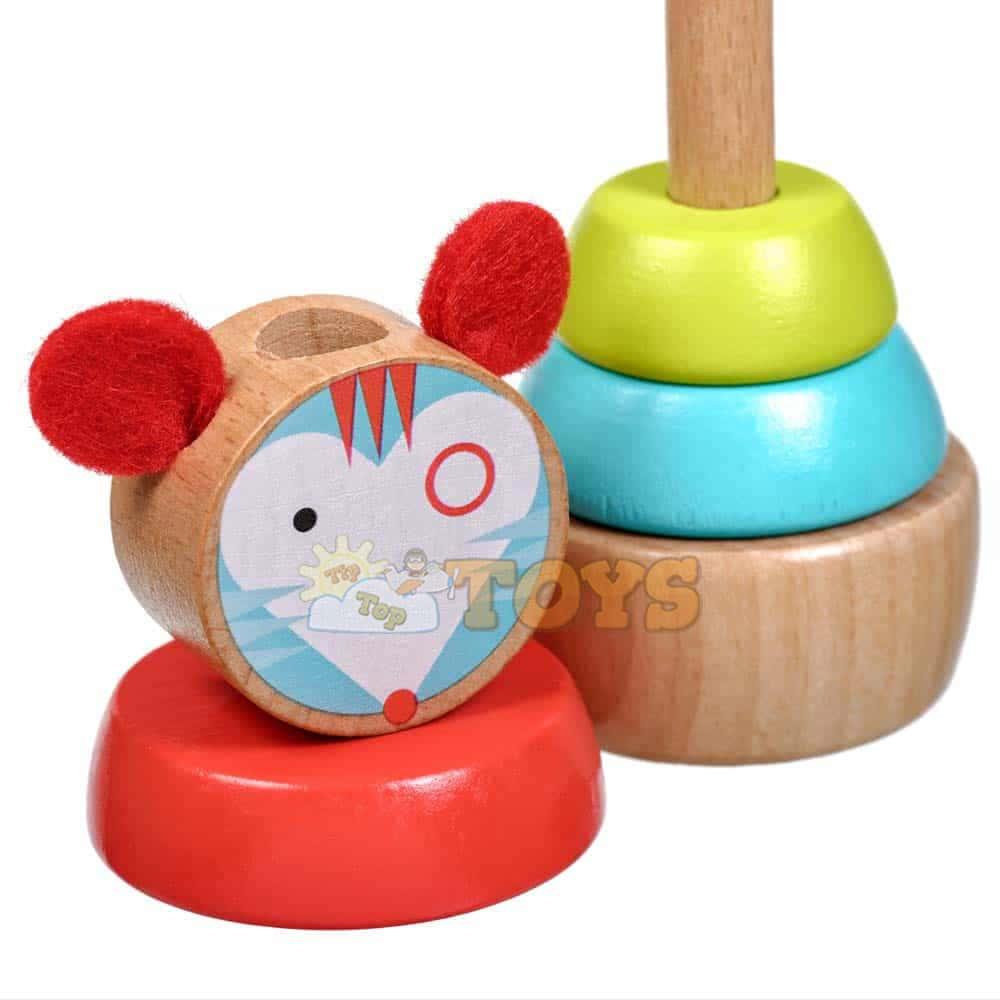 Jucărie de sortare și stivuire din lemn Soarece Lucy&Leo LL154 multicolor