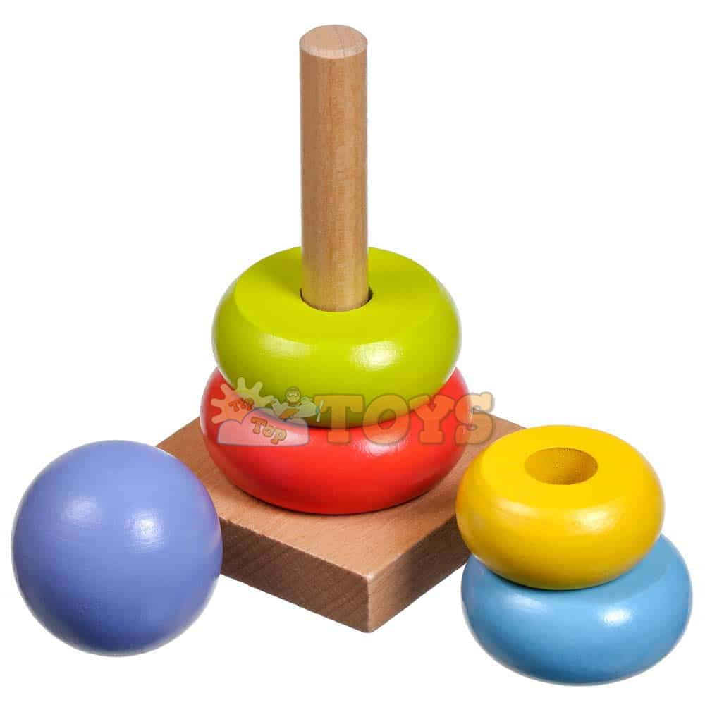 Jucărie educativă pentru copii Turn multicolor de stivuire Lucy&Leo LL152