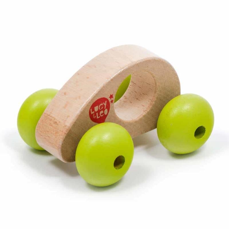 Jucărie de împins din lemn Mini mașinuță Roly Poly Lucy&Leo LL148