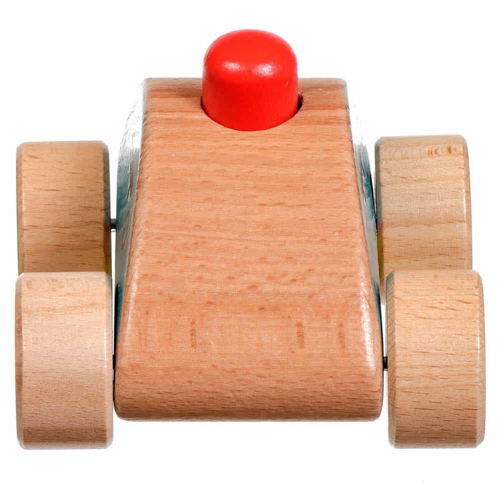 Jucărie de împins din lemn Mini mașină cu sunet Lucy&Leo LL156