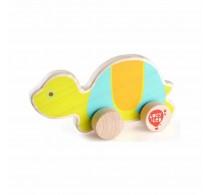 Jucărie de împins din lemn Broască țestoasă Lucy&Leo LL121 multicolor