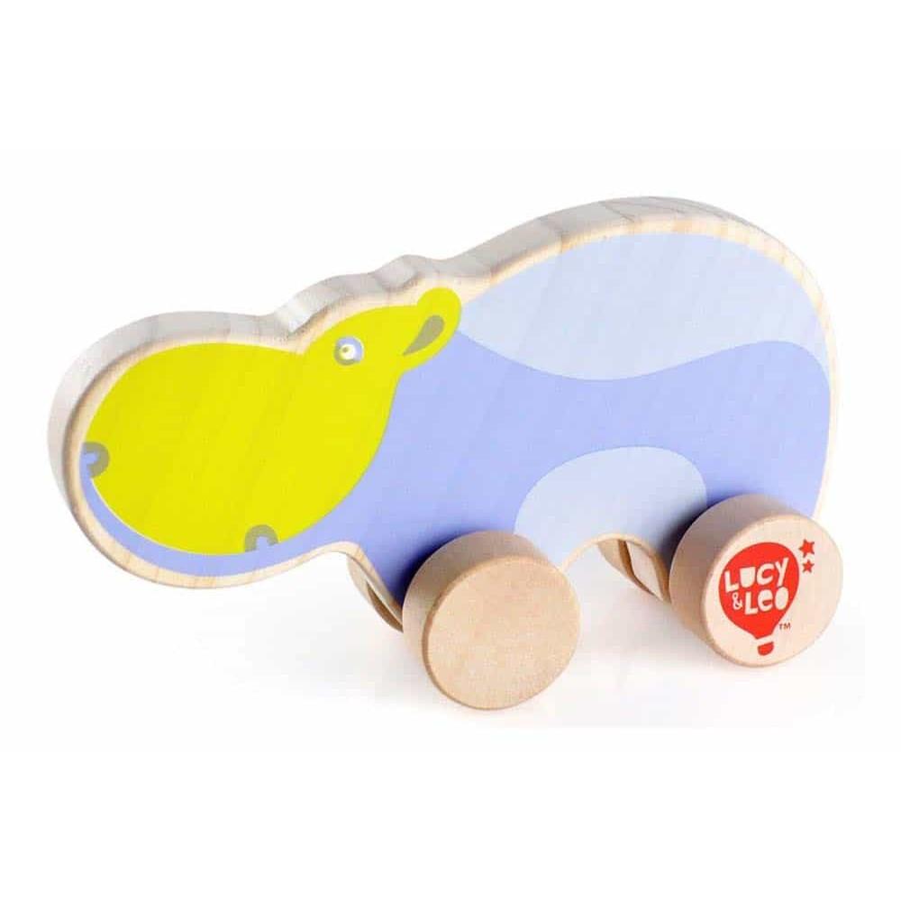Jucărie de împins din lemn pentru copii Hippo Lucy&Leo LL122 multicolor