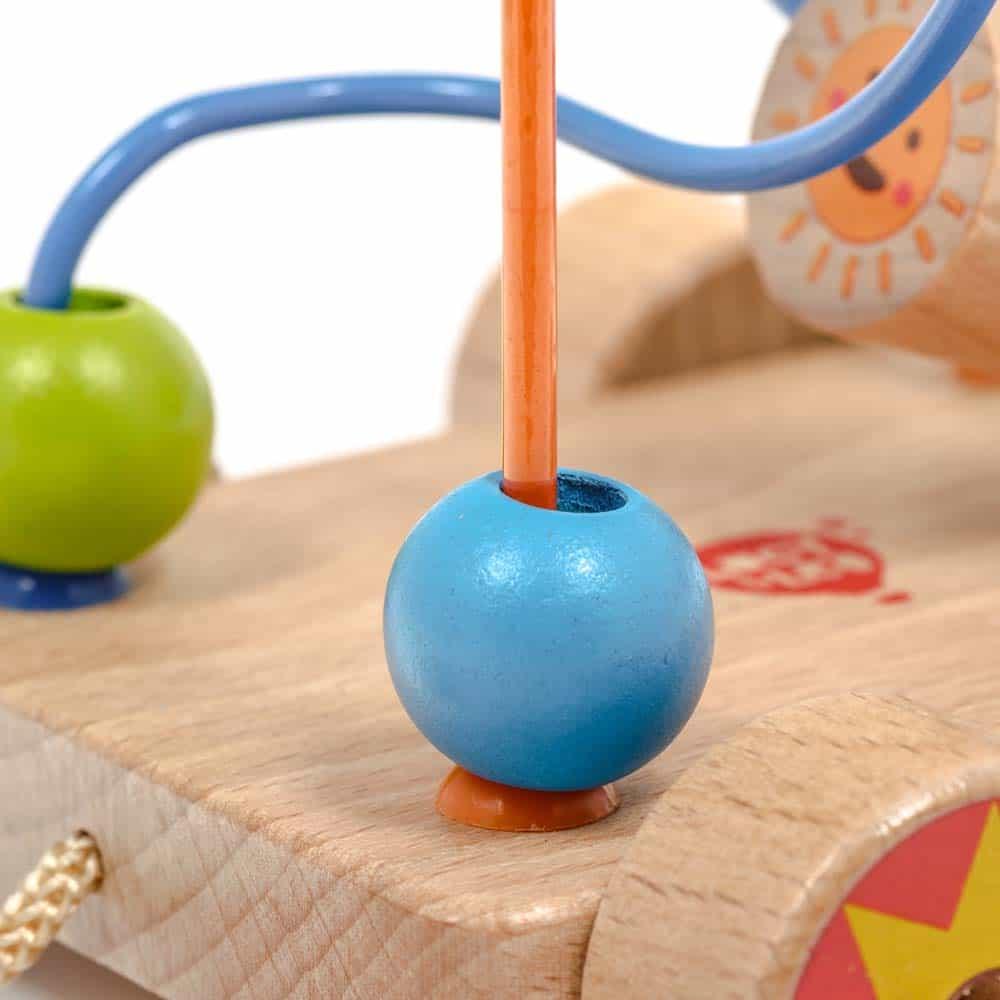 Jucărie de tras din lemn pentru copii Circuit cu bile Lucy&Leo LL150