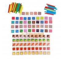 Set educativ din lemn Matematică 135 piese Lucy&Leo LL177 multicolor